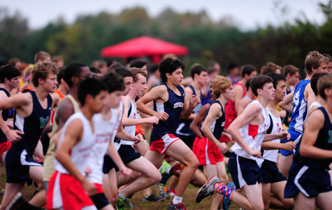Cross country team races in annual overnight
