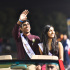 Seniors Siddarth Anand and Ruhee Shah were announced as Homecoming King and Queen at halftime.