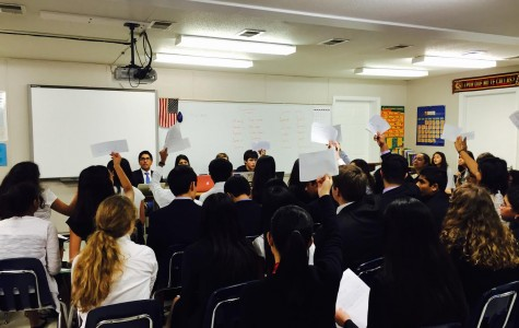 Students participate in mock Model United Nations Conference