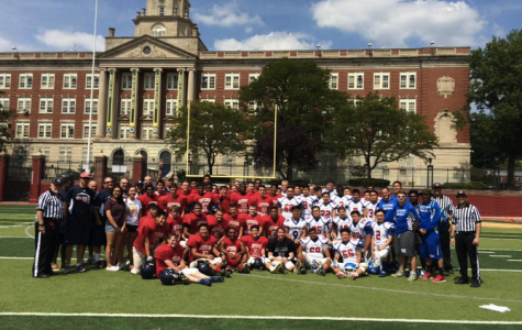 Colonial football defeats NY STEM schools in first scrimmage