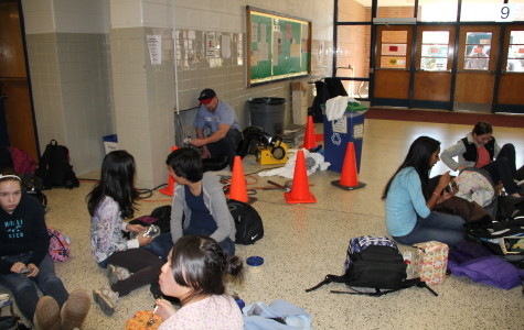 Students take advantage of steam leak