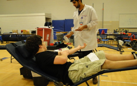 Students donate blood at school sponsored drive