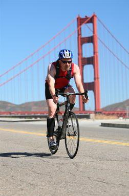 Hannum in Escape from Alcatraz triathlon