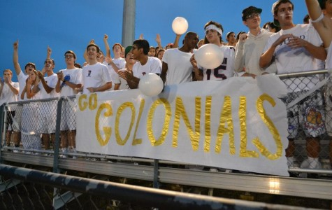 Jefferson football fans show support for the team in the game against Wakefield.