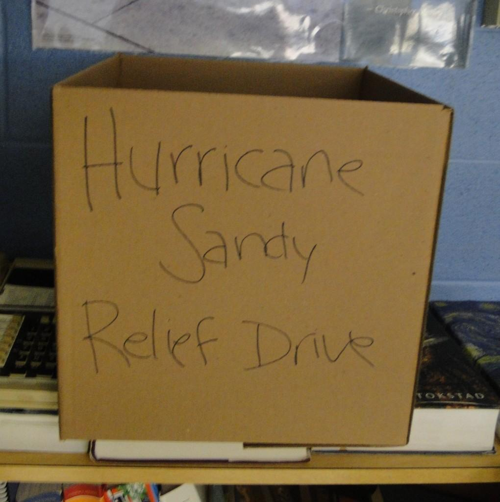 Key Club and SLAVA host Hurricane Sandy relief drive