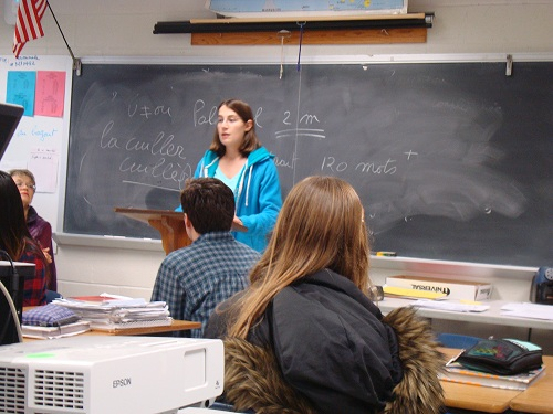 French poetry recitation aids language acquisition