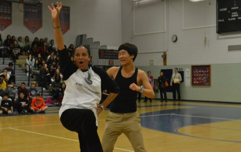 'Dancing with the Faculty' becomes highlight of Winter Sports Pep Rally