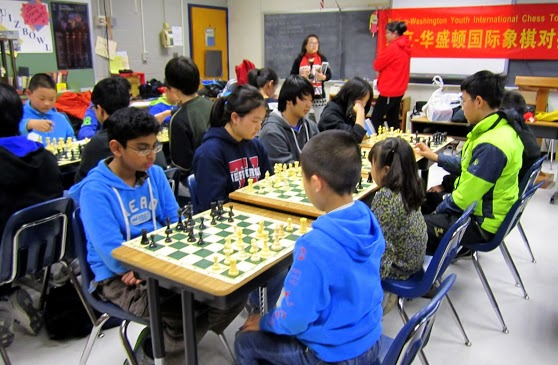 Chess team plays international game