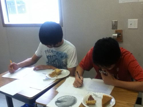 Varsity Math Team holds Pi Day celebration
