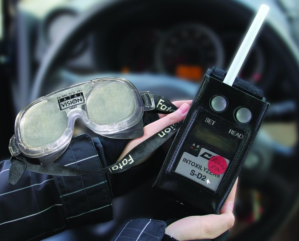The security office keeps a breathalyzer to ascertain blood alcohol levels, and Fatal Vision goggles are used as part of Driver's Education unit on DWI.