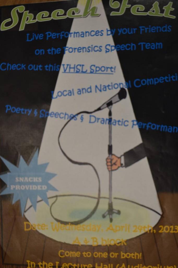 Forensics+team+to+host+Speechfest+