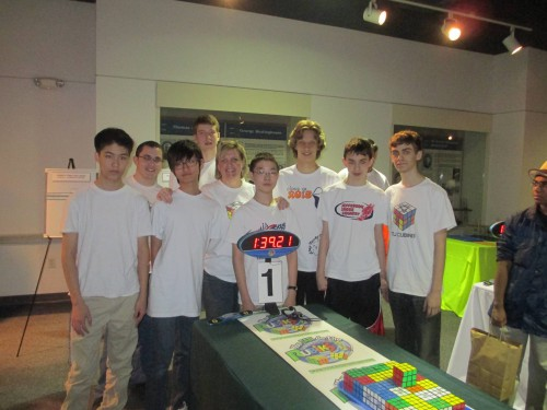 Cubing Team sets a world record