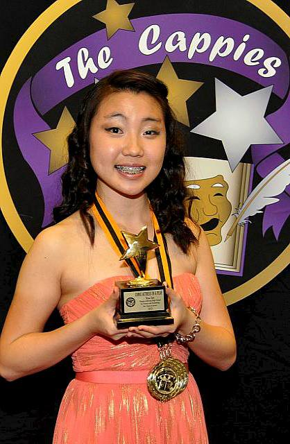 Junior+Yena+Seo+receives+a+trophy+for+winning+the+Comic+Actress+in+a+Play+award+at+this+year%27s+Cappies+Gala.