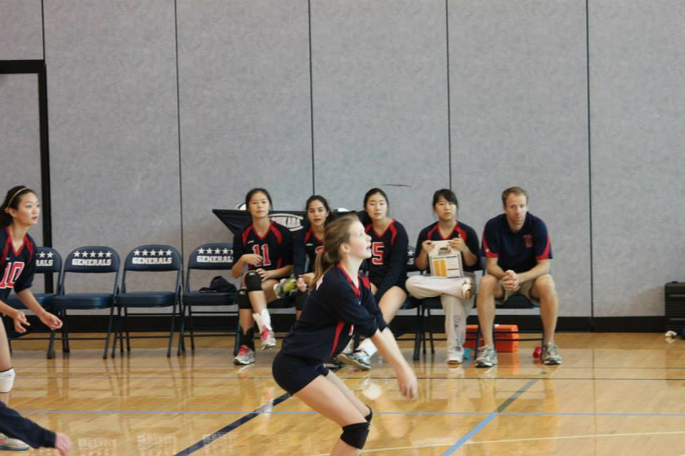 JV Volleyball team playing at the Volleybrawl. Photo courtesy of Catherine Im.