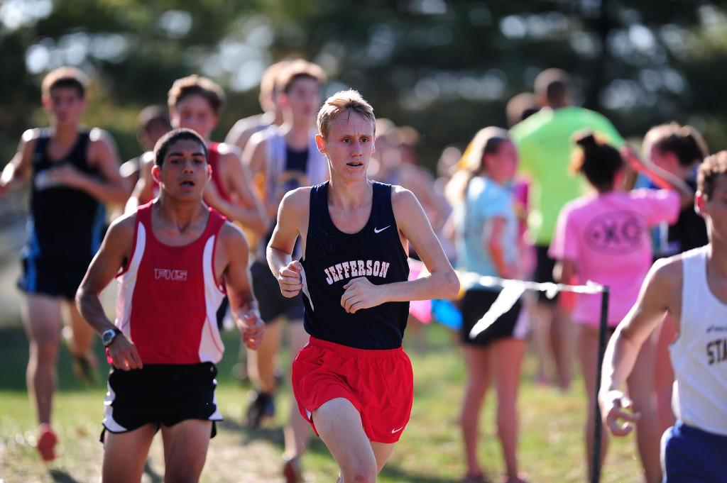 Junior Chris Blagg led the Jefferson boys in the Varsity A race.