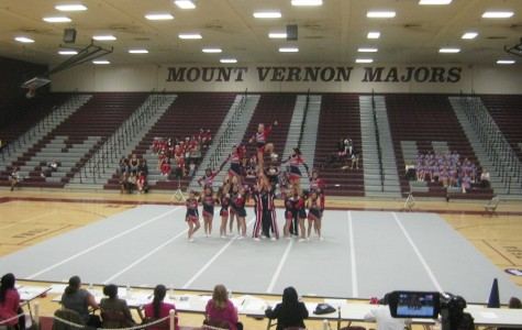 Jefferson Cheerleading takes the mat on Oct. 23 at the District Final Competition.