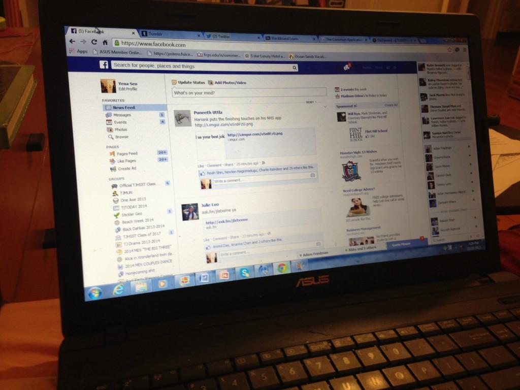 Though the Blackboard and the Common App sites may be up, my go-to sites are Facebook, Twitter and Tumblr.