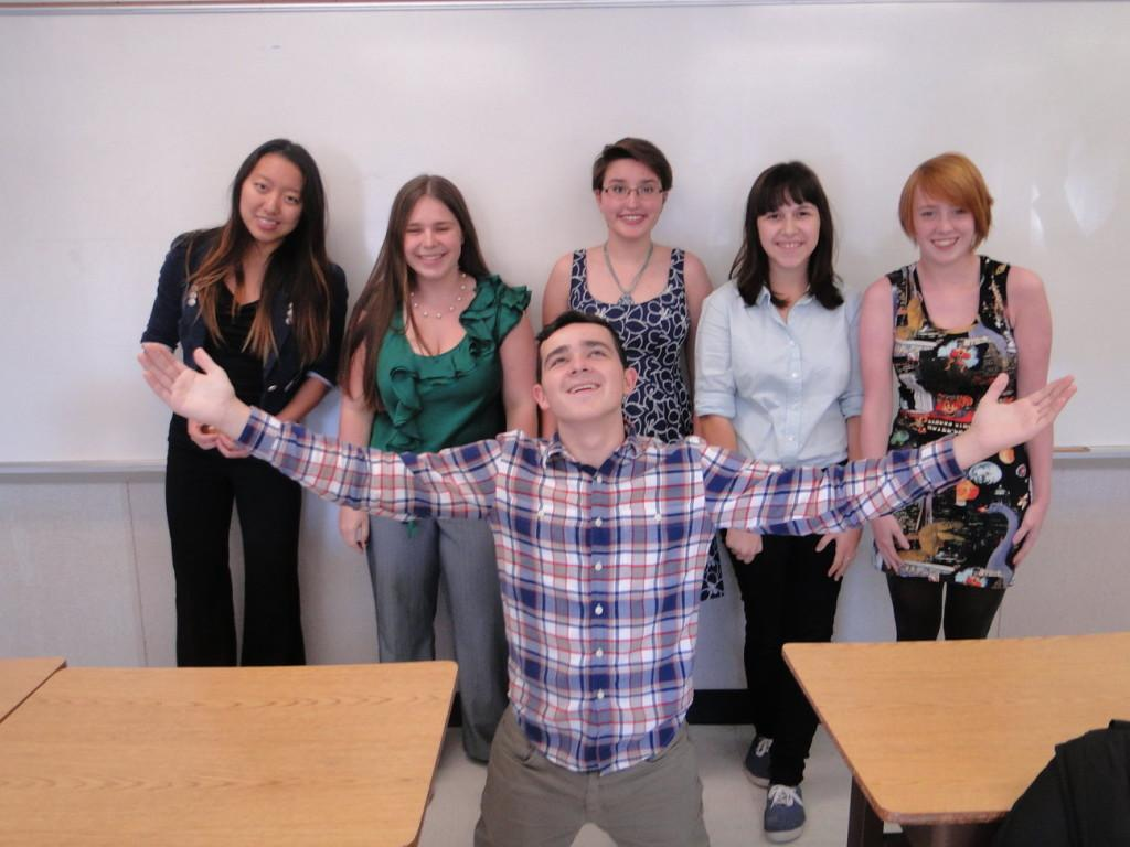 GSA members participate in Wednesday's dress your best spirit day.