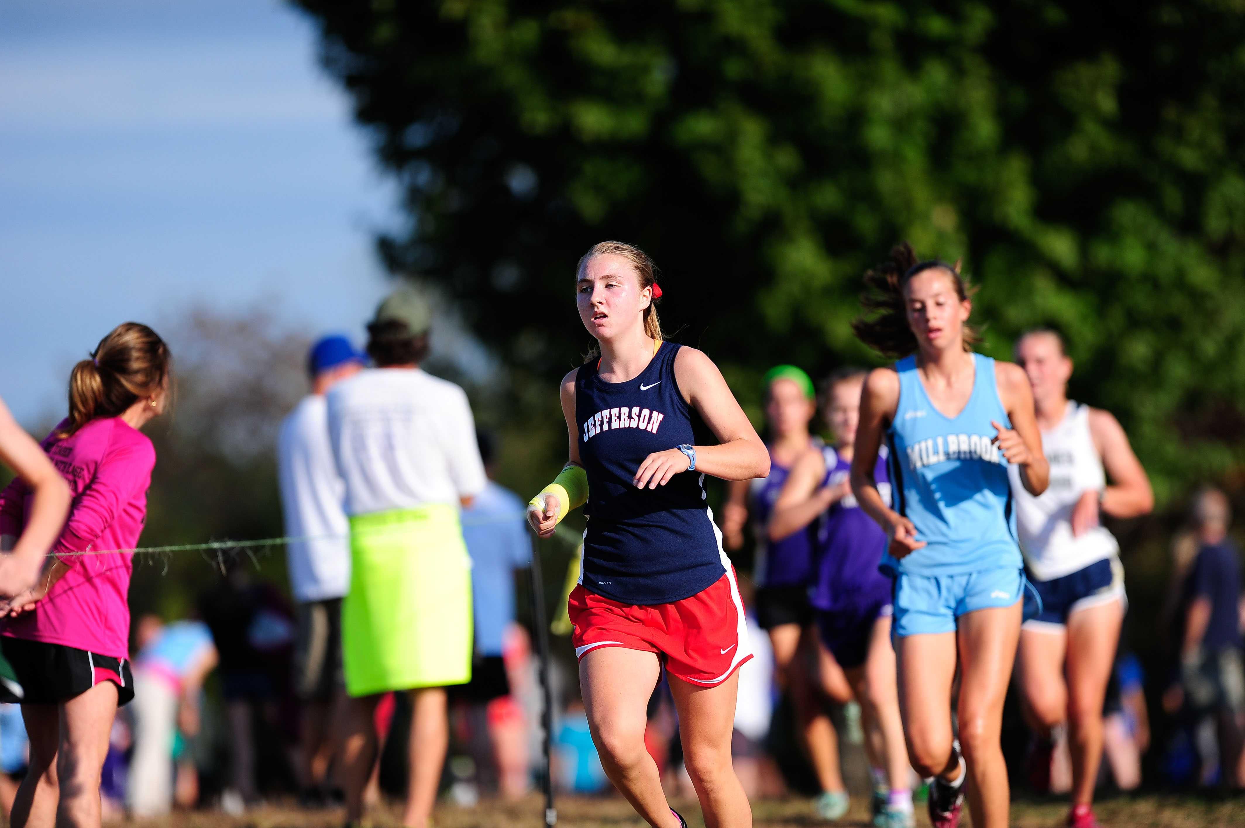Junior Haley Stumvoll was Jefferson's first finisher at the Octoberfest 2013 Invitational.