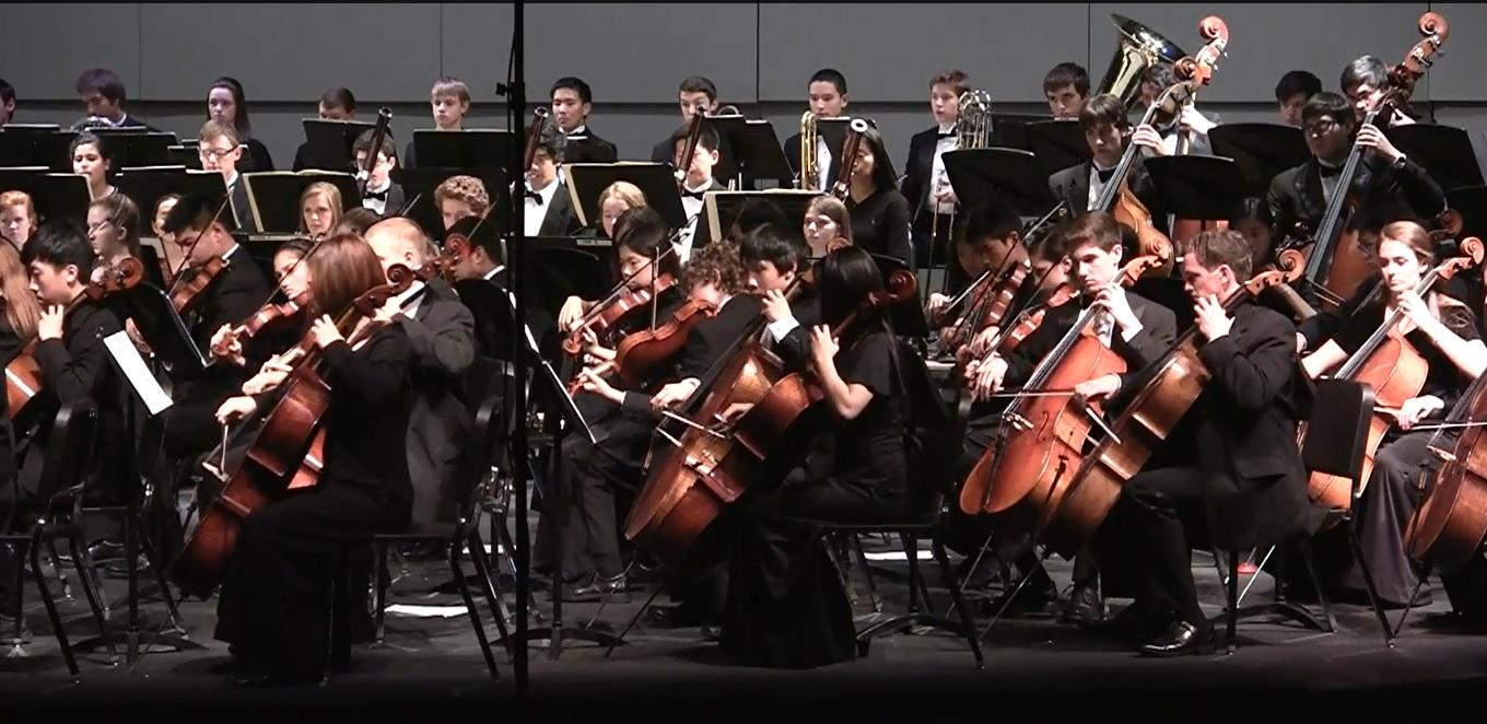 Fifteen Jefferson students played in the Northern Virginia Senior Regional Orchestra (SRO), which took place on Nov. 7-9. Photo courtesy of Samantha Chu.