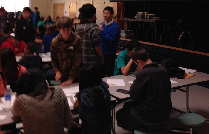 Jefferson students host a math competition for talented middle school students interested in math.