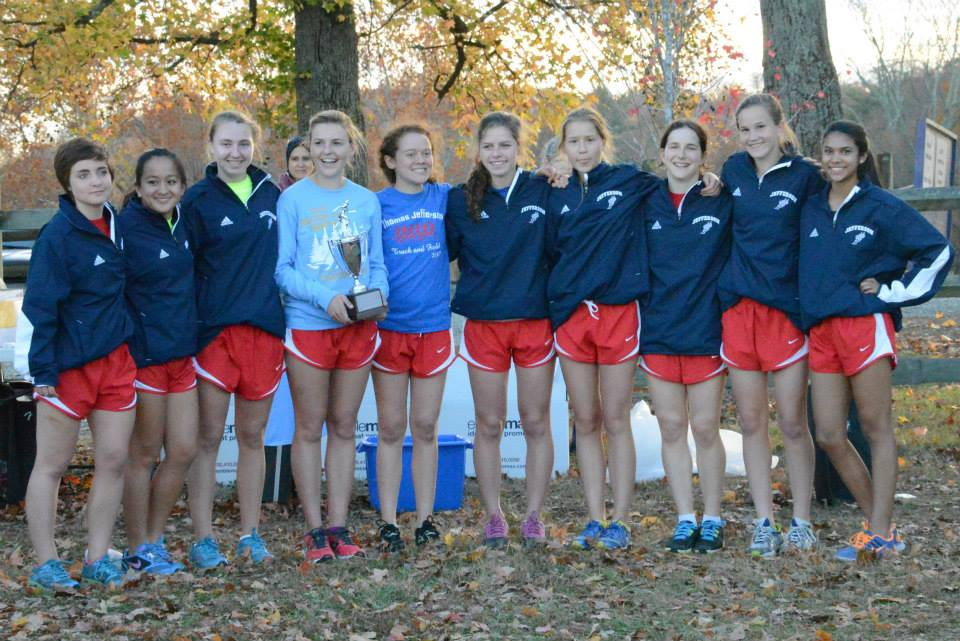 The+girls%27+team+placed+second+at+the+5A+North+Region+Championships+on+Nov.+6.+Photo+courtesy+of+Sally+Stumvoll.