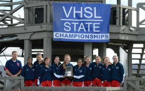 The Jefferson girls' cross country team placed second at the 5A State Championships on Nov. 15. Photo courtesy of Sally Stumvoll.