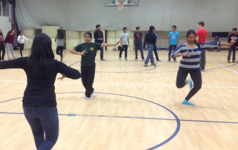 Students learn dance steps which they will perform in February for Namaste's annual I-Nite.