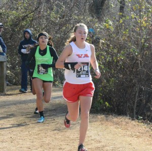 Junior Haley Stumvoll raced in the Foot Locker South Regional meet on Nov. 30. Photo courtesy of Sally Stumvoll.