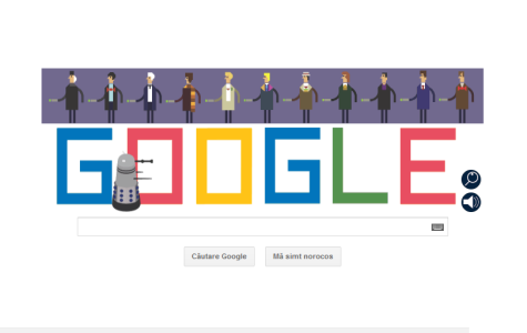Doctor Who's Fiftieth Anniversary Google Doodle was an interactive game complete with six levels and animations of all incarnations of the Doctor. Photo courtesy of www.google.com/doodles.