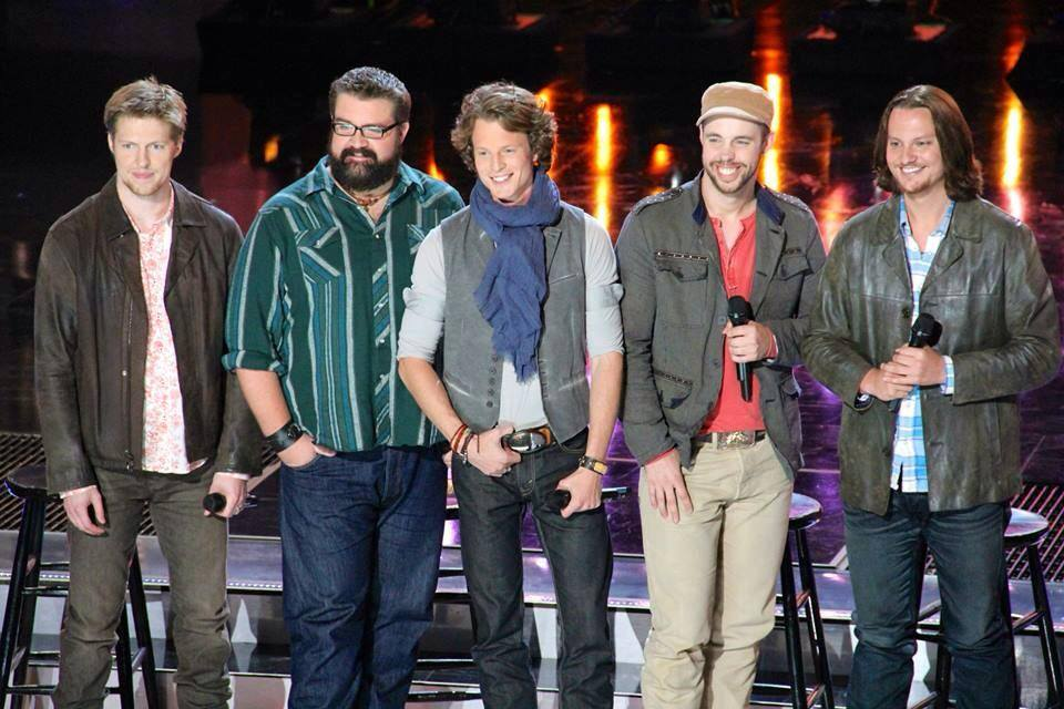 Home Free is a country a capella band that won Season Four of NBC's The Sing-Off. Left to right: Adam Rupp, Rob Lundquist, Austin Brown, Chris Rupp and Tim Foust.