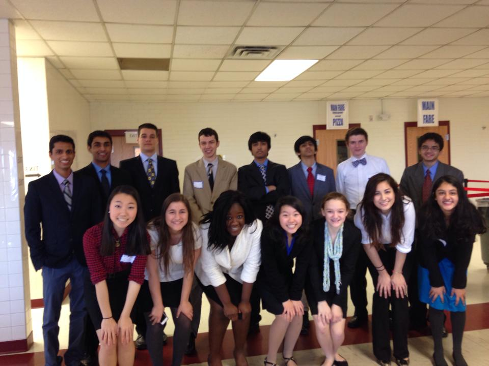 Delegates from the Jefferson Model United Nations club at Gar-Field High School on Jan. 18.