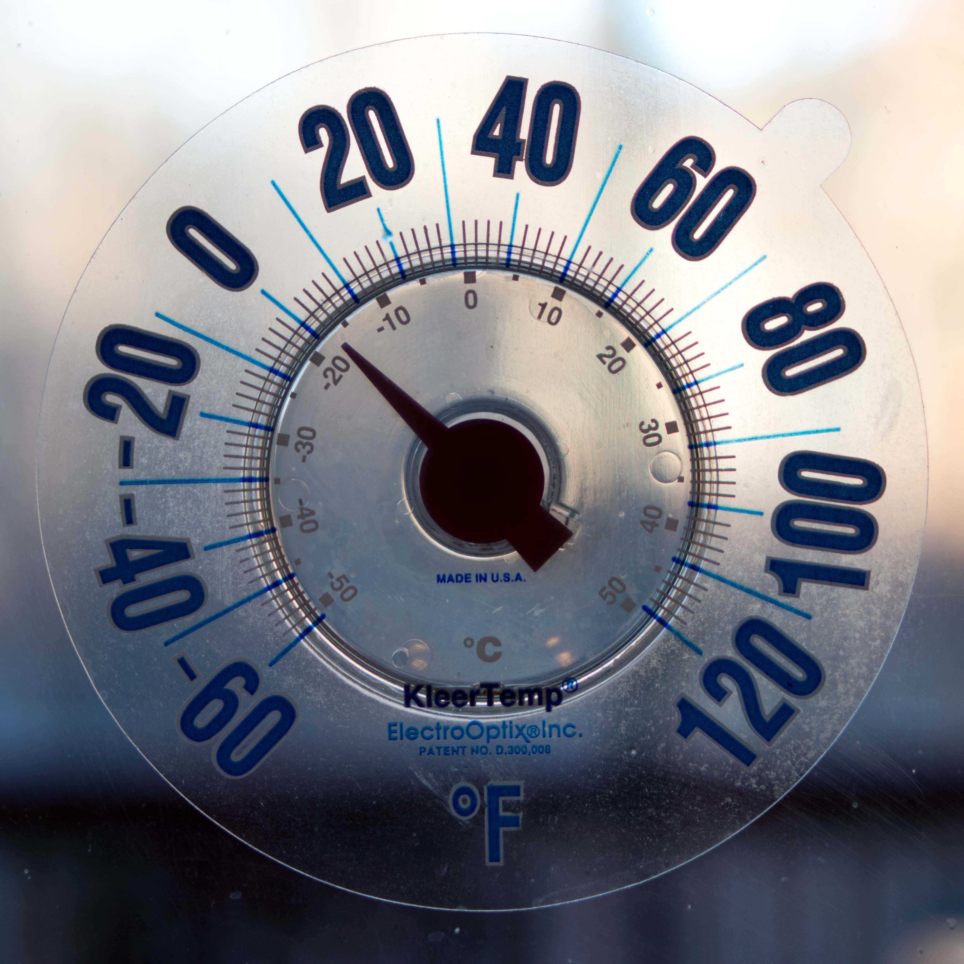 A local temperature at 8:45 a.m. was just above zero degrees Fahrenheit in Fairfax, Va.