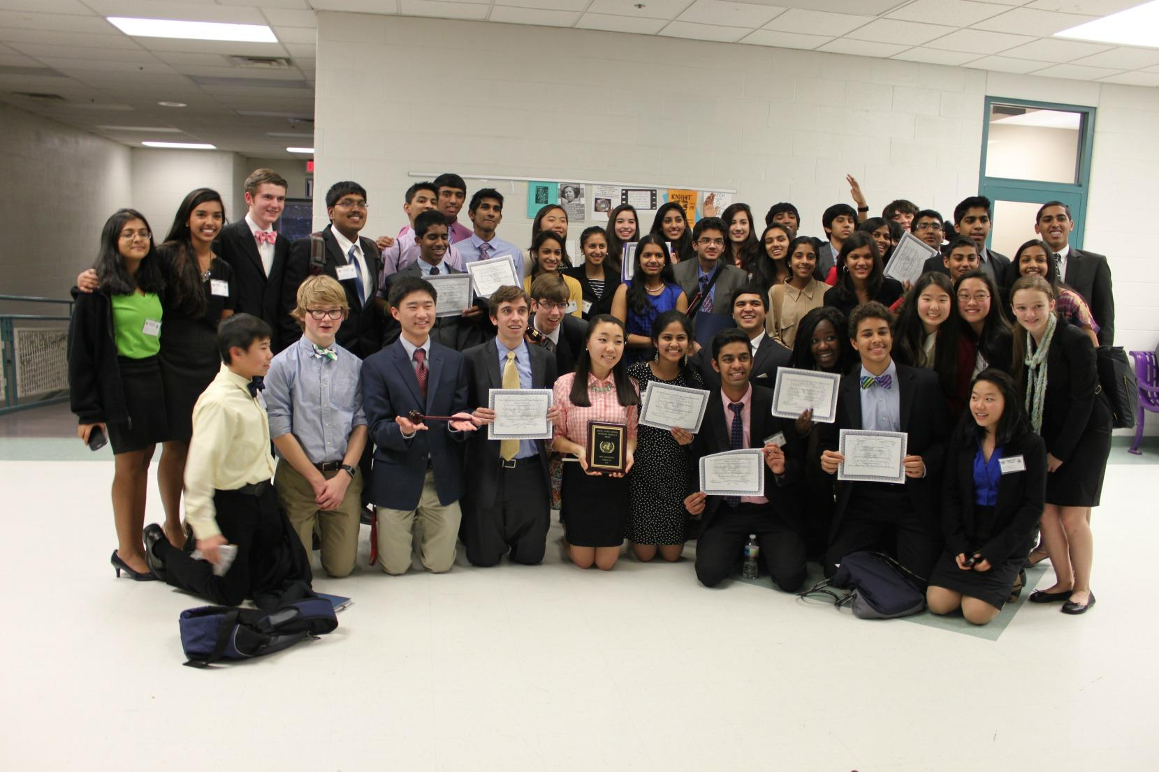 TJMUN at the Chantilly High School Model United Nations conference.