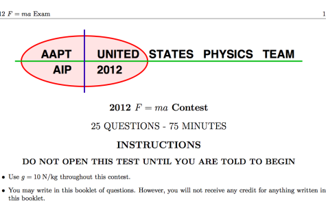 Students take F=ma exam for first round of top physics competition