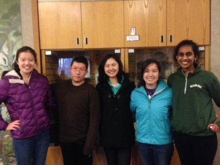 Left to right: Last year's Envirothon team was composed of (current) seniors Grace Chuang, William Woodruff, Karen Xia and Emma Gee and junior Teja Sathi. These students are all participating in Envirothon again.