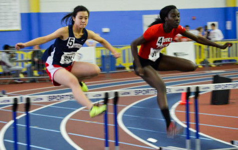 Winter track team races at regional meet, individuals and relays advance to States