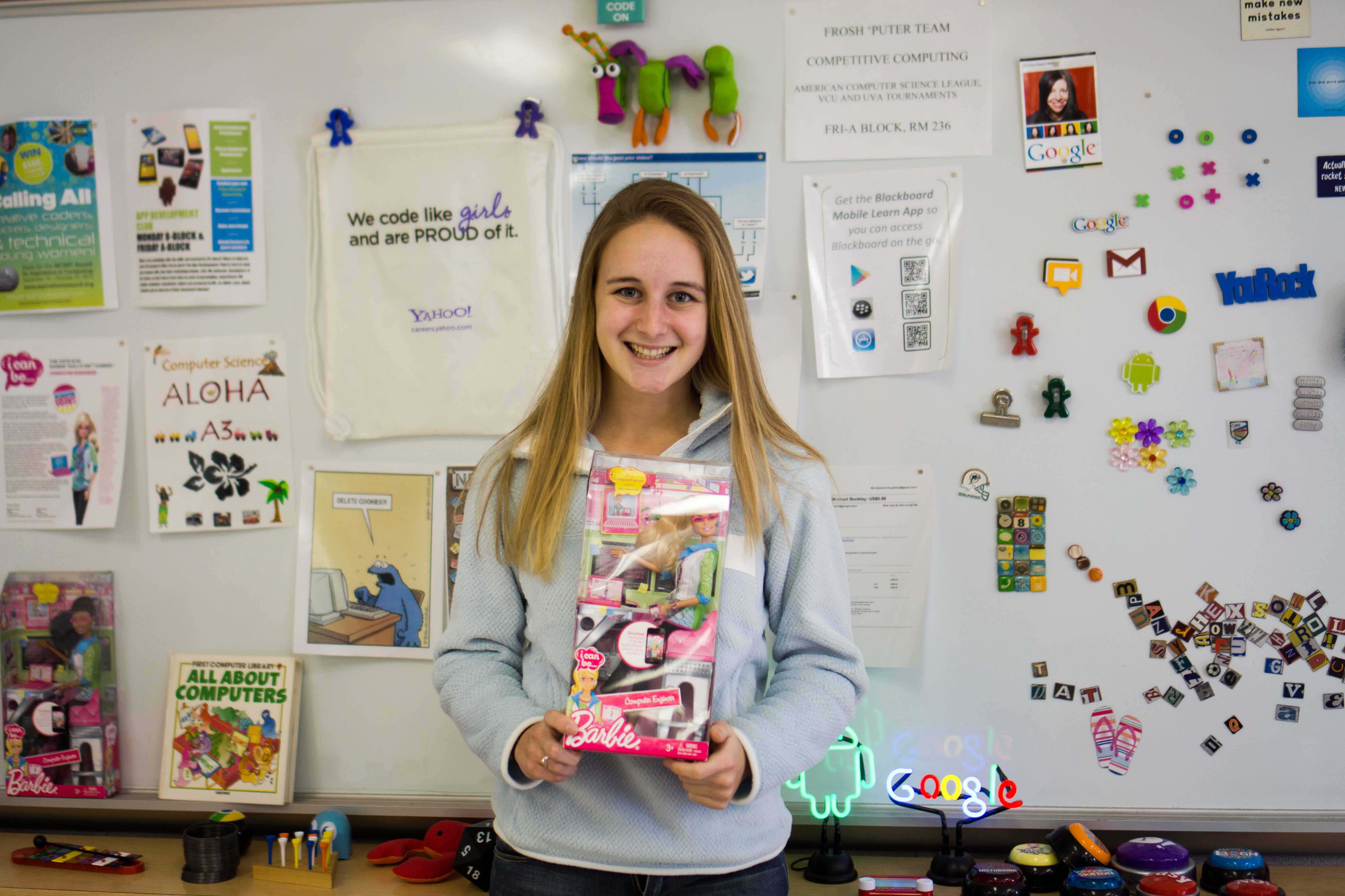 Junior Maddie Zug devotes much of her time to promoting interest in computer science for youths, females and the Jefferson population.