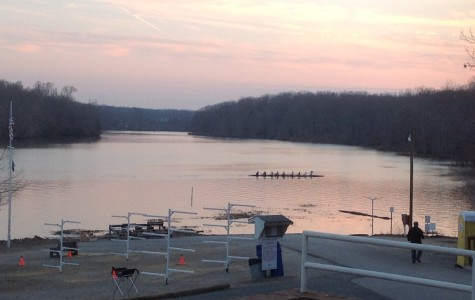 Just days before the Polar Bear regatta, teams from around the area went out on the Occoquan river for crew practice.
