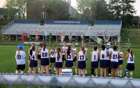 Last year's girls' varsity lacrosse team at their final match.