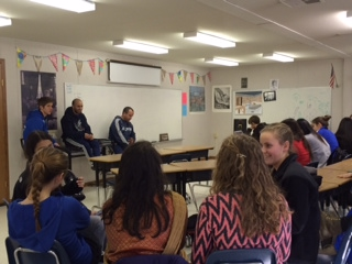 Athletes of the girls' soccer team held a meeting during eighth period on Feb. 28.
