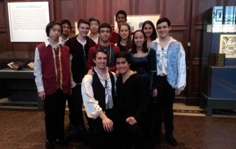 The cast and directors at the Folger Shakespeare Library.  Photo courtesy of Natasha Shukla.