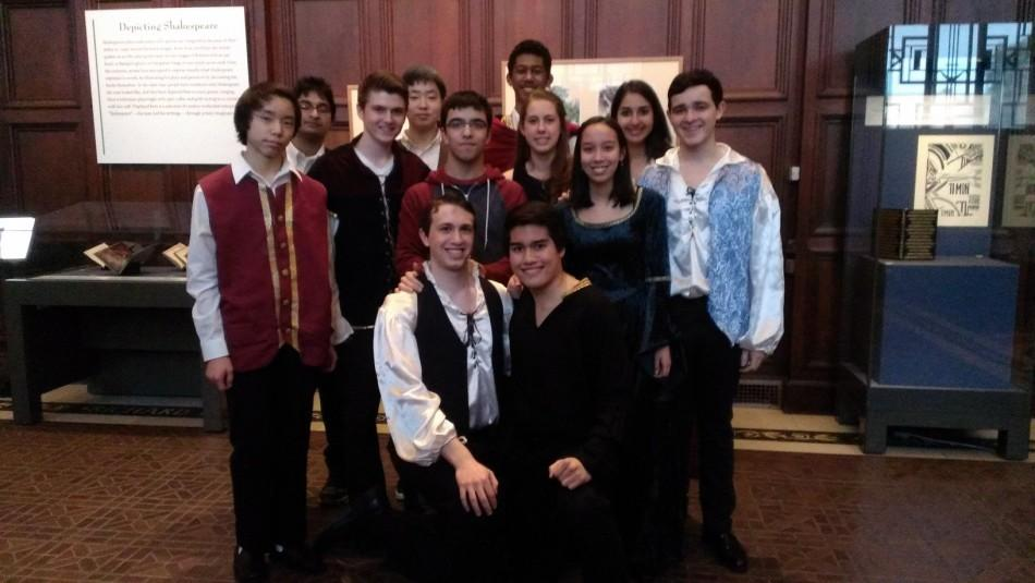 The+cast+and+directors+at+the+Folger+Shakespeare+Library.++Photo+courtesy+of+Natasha+Shukla.+