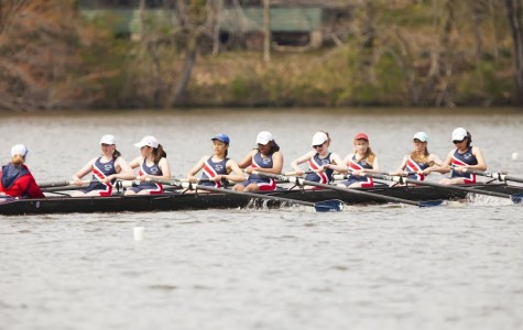 The women's freshman eight raced in the Al Urquia Regatta at Sandy Run Regional Park on April 26, placing second.