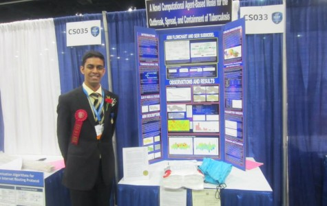 Chopra received a second place award in the Computer Science category at Intel ISEF.  Photo courtesy of Parth Chopra.