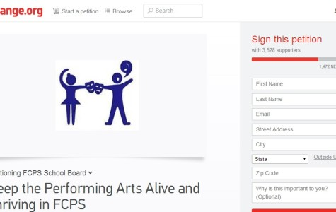 An online petition regarding the Fine Arts Theatre and Dance Specialist position has gained over 3,000 signatures.