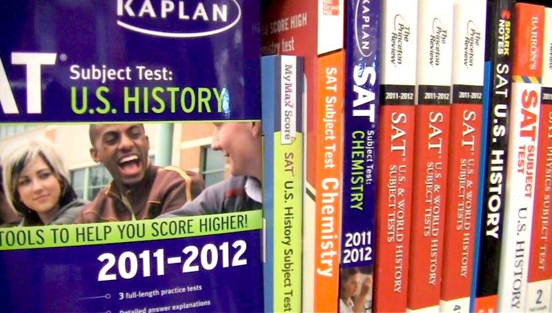 Students prepare for subject tests and SATs through several prep books available at the College and Career Center.