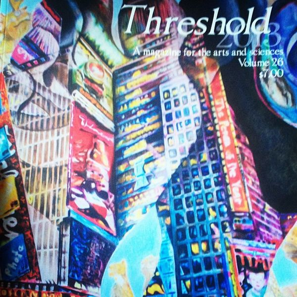 Threshold Literary Magazine from the 2013-2014 school year. This year's edition has not yet been released to the student population.