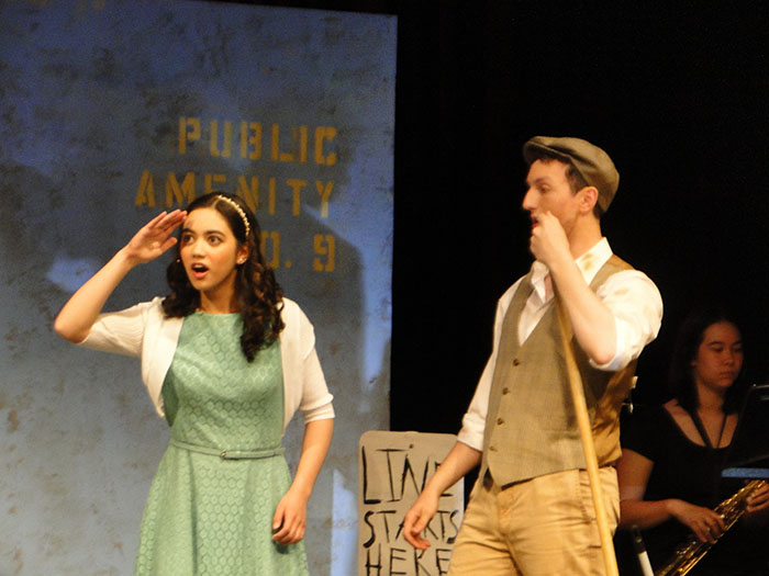 Hannah+Pho+and+Alex+Le+Floch+star+as+Hope+Cladwell+and+Bobby+Strong+in+TJ+Drama%27s+production+of+%22Urinetown.%22