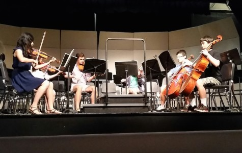 "A sextet consisting of seniors Irene Hwang and Lilly Nowlakha, juniors Ed Fortunato and Anna Tsutsui, sophomore Andrew Jiao and freshman Wonseok Song,  performed the first and fourth movement of  ""Souvenir de Florence"" during lunch on June 13."